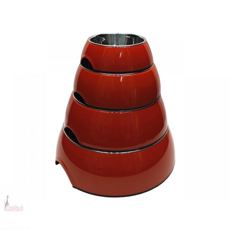 Royal skål rund, rød - fra