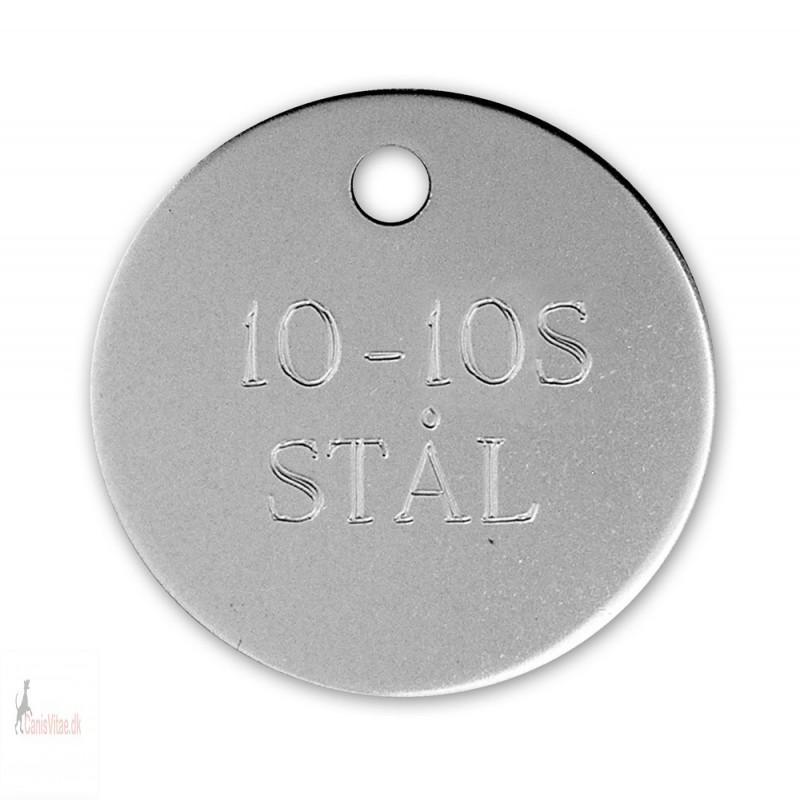 Hundetegn - Rustfrit Stål -23mm - 10-10S