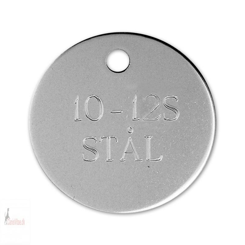 Hundetegn - Rustfrit Stål -33mm - 10-12S