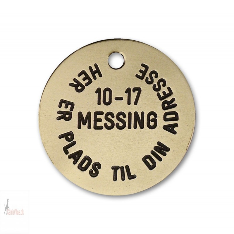 Hundetegn - Messing -33mm - 10-17