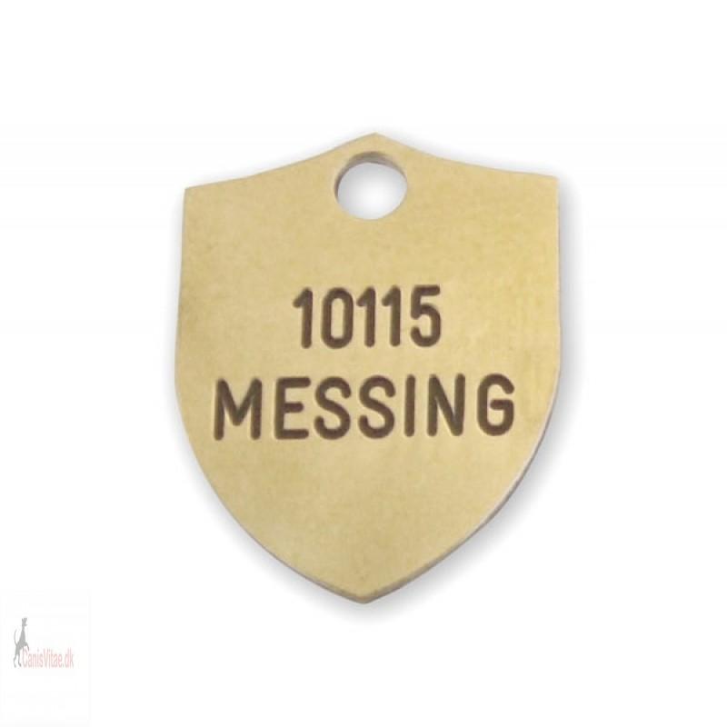 Hundetegn - Messing -18x23mm - 10115