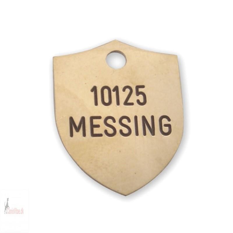 Hundetegn - Messing -21x27mm - 10125