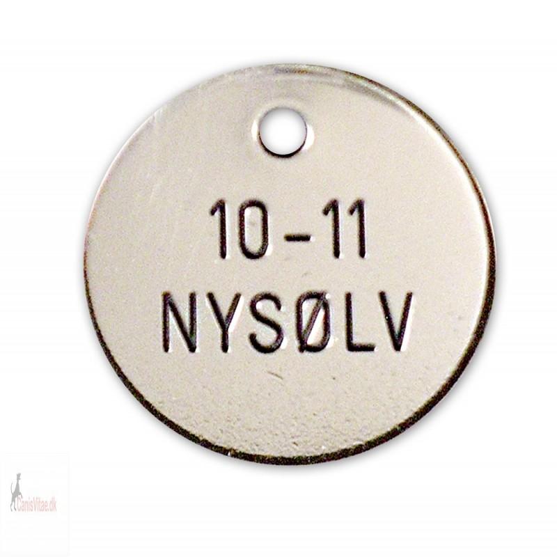 Hundetegn - Nysølv -27mm +10-11