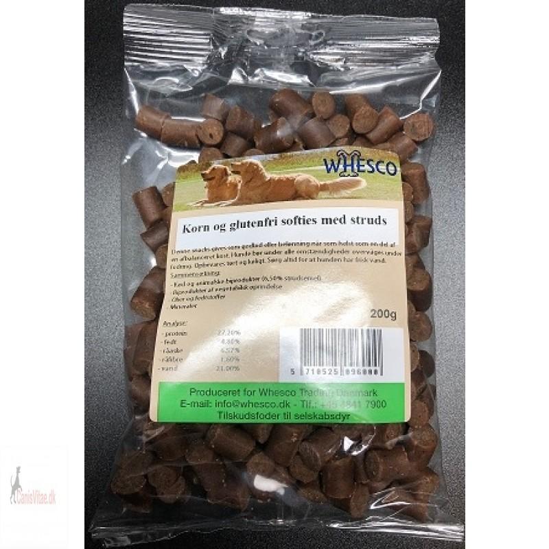 Korn- og glutenfri Softies med struds, 200gram