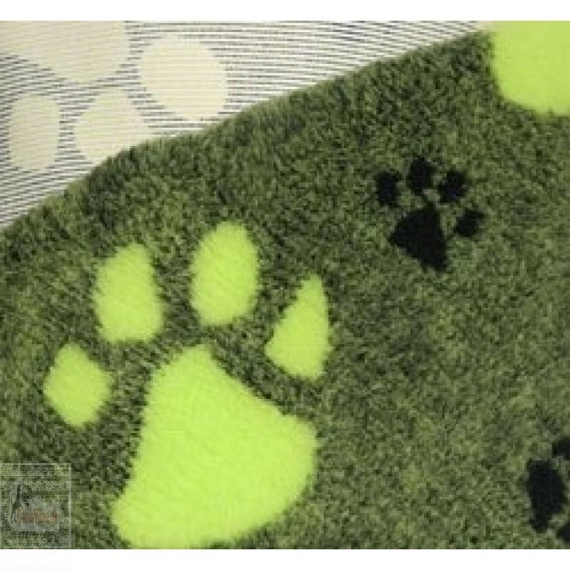 Vet-bed, 100 x 150 cm - Grøn med limegrøn pote