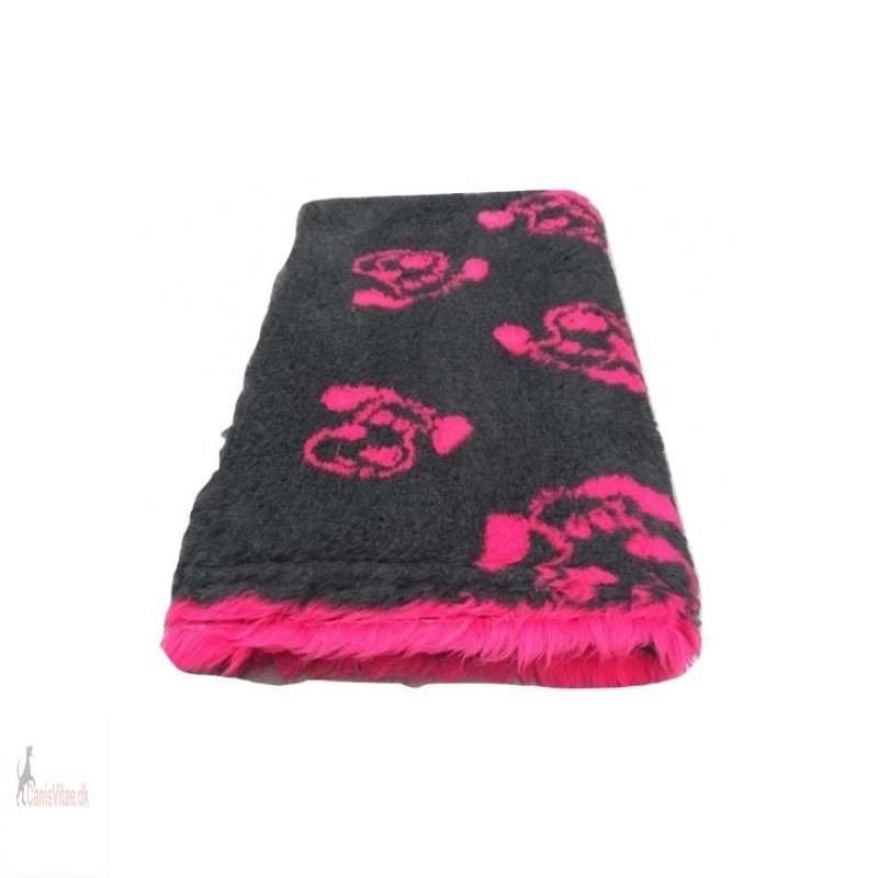 Vet Bed,antracit/fuchsia hundehoved , 150x100cm