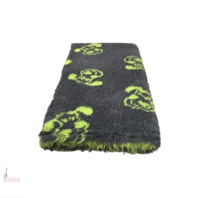 Vet Bed,antracit/grøn hundehoved , 150x100cm