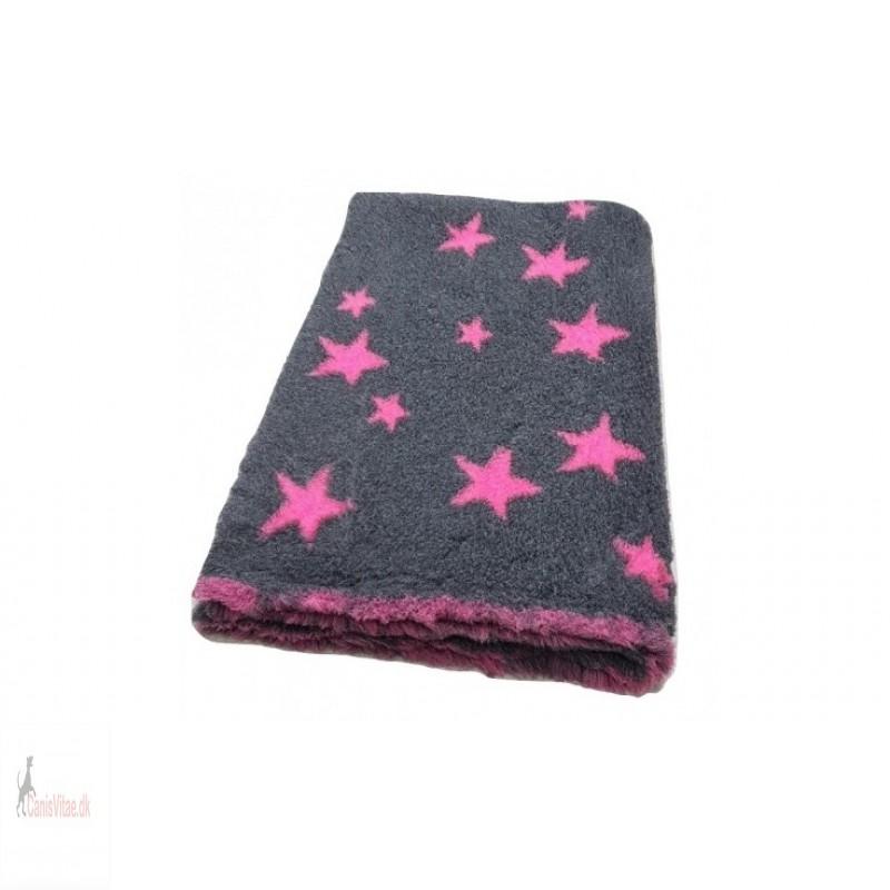 Vet Bed, antracit m stars pink, , 100 x75cm