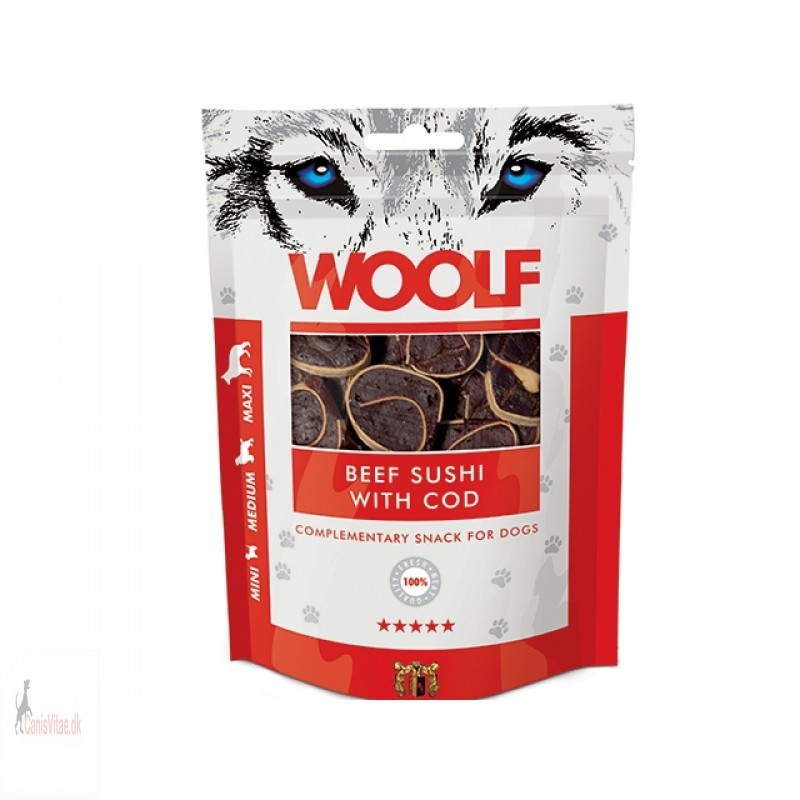 Woolf -Beef sushi with cod, 100 GRAM