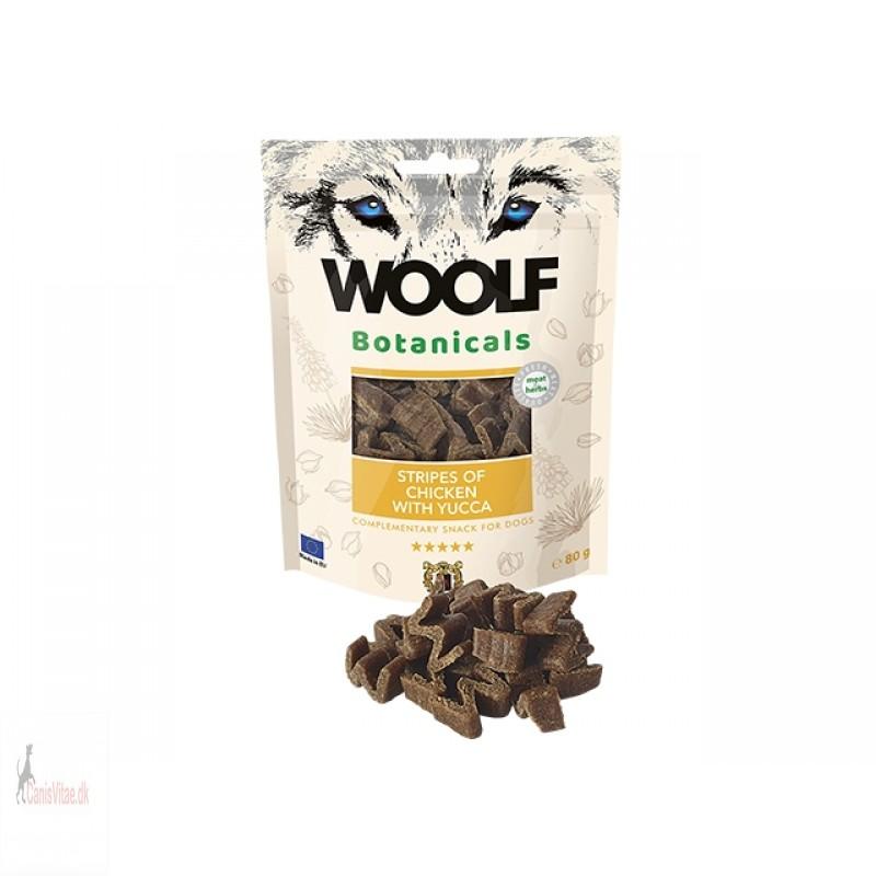 Woolf Botanicals -Stripes of chicken with yucca, 80 gram