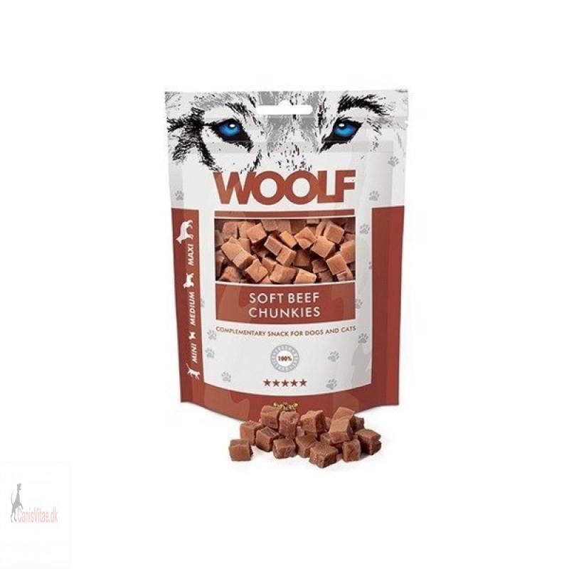 Woolf -soft beef chunkies, 100 GRAM