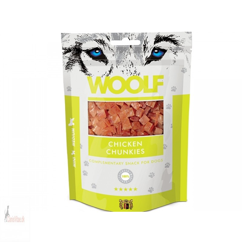 Woolf - CHICKEN CHUNKIES, 100 GRAM