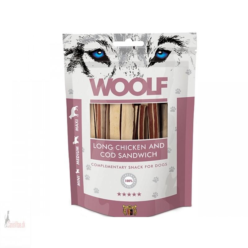 Woolf - lONG CHICKEN & COD SANDWICH, 100 GRAM