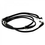 Collar læder dressurline,sort vælg variant-20