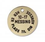 Hundetegn Messing-33mm 10-17-20