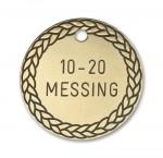 Hundetegn Messing-33mm 10-20-20