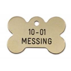 Hundetegn messing stort kødben 10-01-20