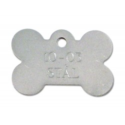 Hundetegn rustfri stål stort kødben 10-03-20