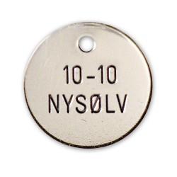 Hundetegn nysølv 23 mm. 10-10-20