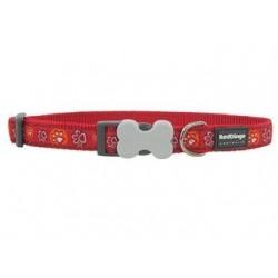 Red Dingo halsbånd, rødt m. poter fra-20