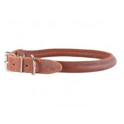 Collar Soft rundsyet læder halsbånd, Brun fra-20