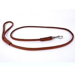 Collar Soft rundsyet læder line, 122cm/6mm-20