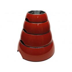 Royal skål rund, rød fra-20