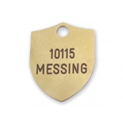 Hundetegn Messing-18x23mm 10115-20