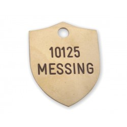 Hundetegn Messing-21x27mm 10125-20