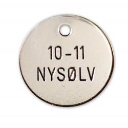 Hundetegn Nysølv-27mm +10-11-20